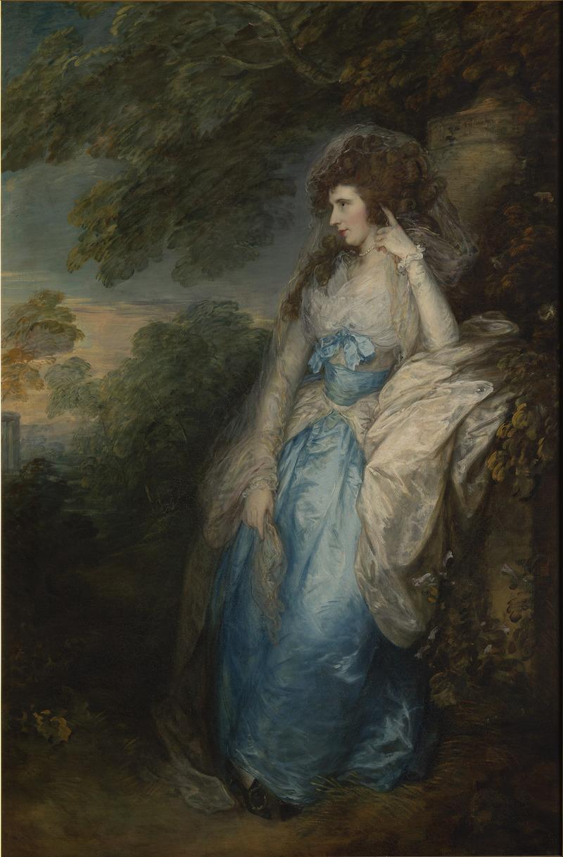 Thomas Gainsborough Lady Bate-Dudley c.1787 huile sur toile 221 × 184,5 cm Collection particulière, en dépôt à la Tate Britain depuis 1989 Royaume-Uni, Londres, Tate