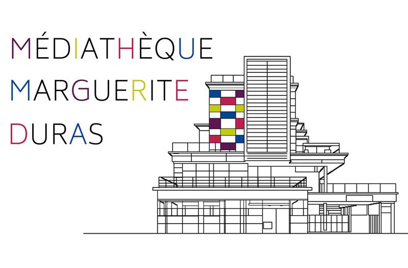 Logo médiathèque marguerite Duras
