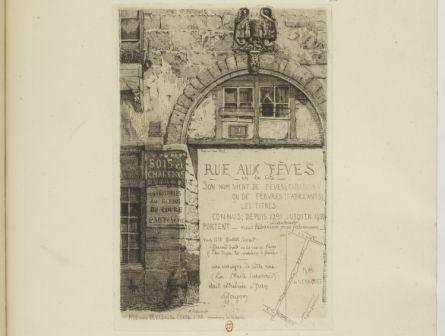 Rue aux Fèves : A la Gerbe d'or, maison du 16e siècle