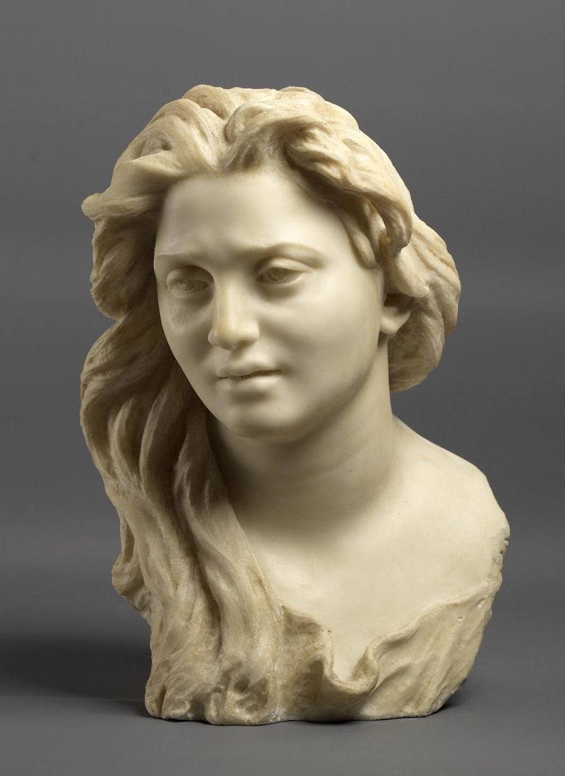 Vincenzo Gemito, Buste d'Anna [Busto di Anna] Vers 1886, marbre, 40 x 28 x 28 cm Musée de Capodimonte, Naples, Italie