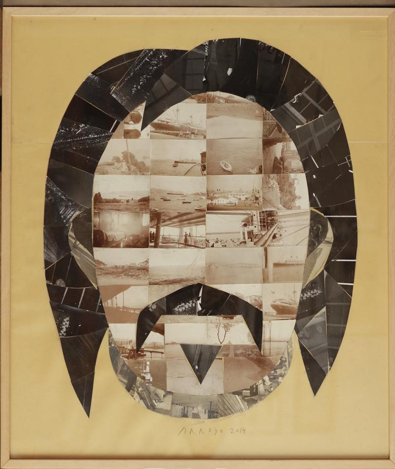 Balzac, 2014, collage sur papier