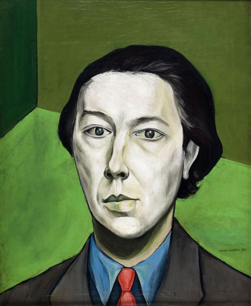 Victor Brauner, (1903-1966). « Portrait d'André Breton », écrivain français (1896-1966). Huile sur toile, 1934. Paris, musée d'Art mo- derne.