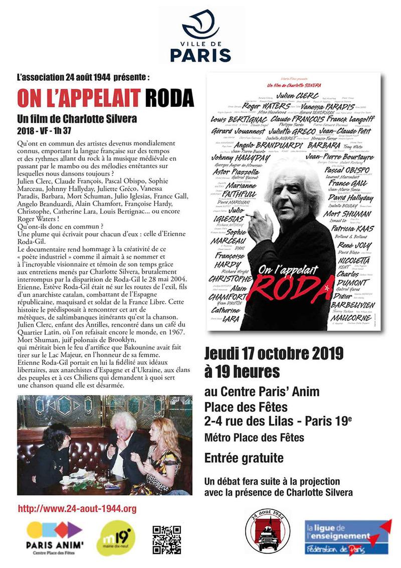 Affiche de la soirée du 17 octobre