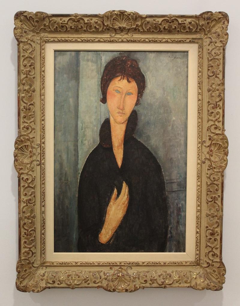 La femme aux yeux bleus, Modigliani