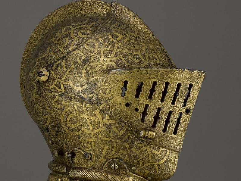 Armet pour le combat à pied, vers 1555, Paris, musée de l'Armée