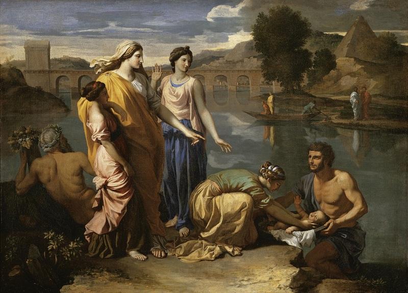 Nicolas Poussin Moïse sauvé des eaux 1638  Huile sur toile 93 x 121 cm