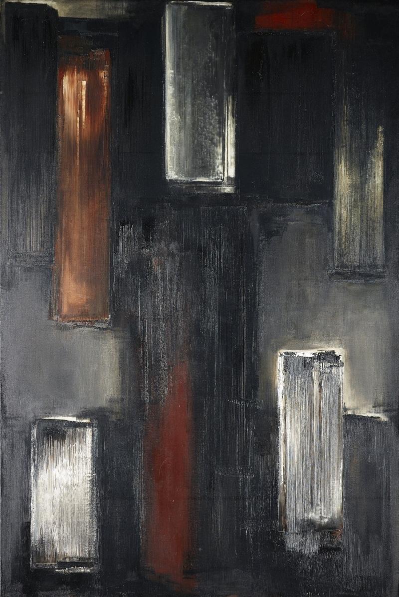 Pierre Soulages, Peinture, 195 x 130 cm, 14 mars 1955. Essen, Museum Folkwang
