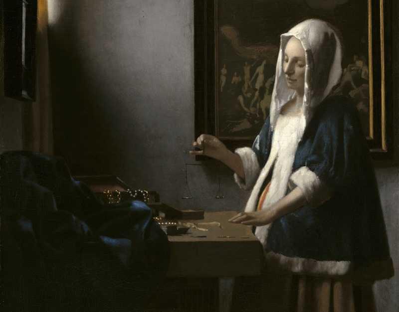 Vermeer_Jeune Femme +á la balance_Washington