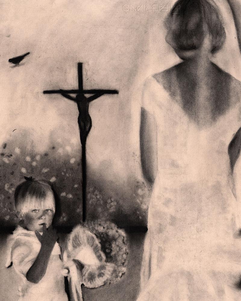 """""""ruina"""", 2019 mine de plomb et fusain sur papier - 40 x 50 cm"""