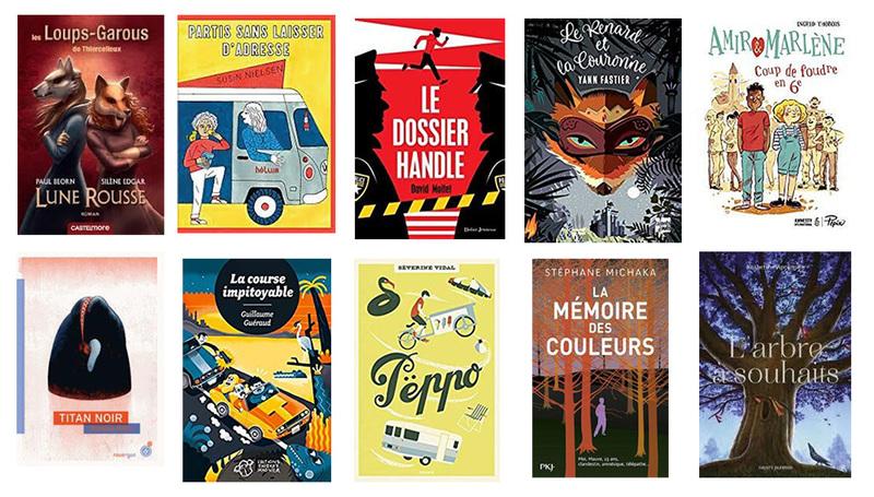 couvertures de la sélection 2019-2020 romans lire dans le 20e