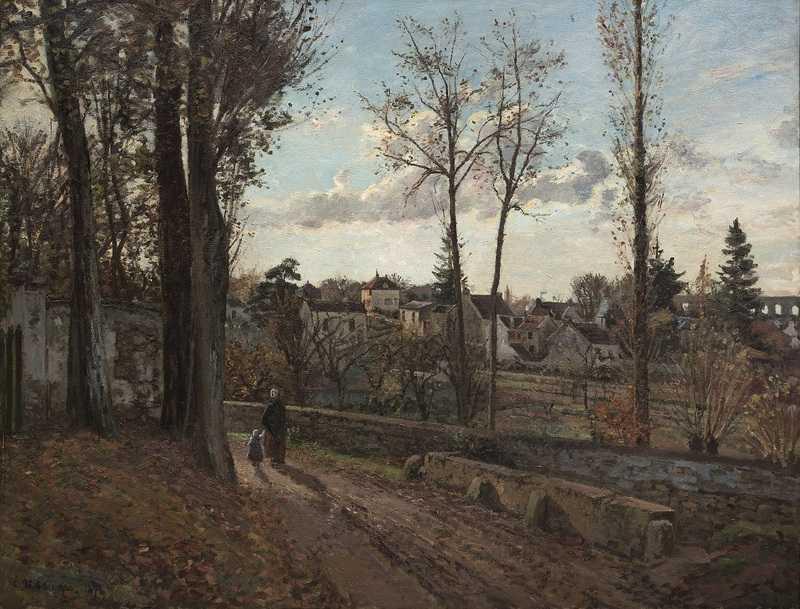 Camille Pissarro Louveciennes 1871