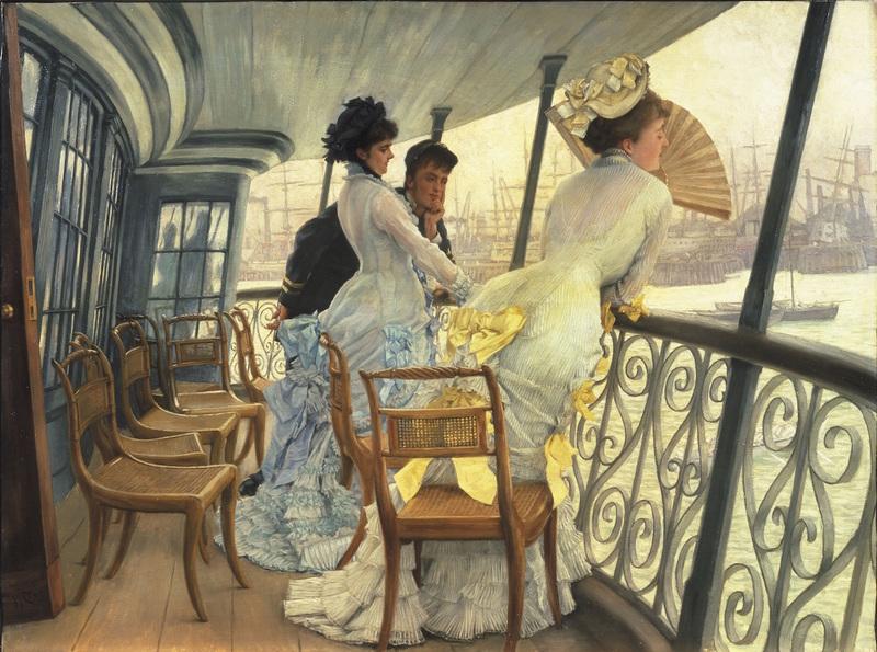 James Tissot (1836 - 1902) La galerie du HMS Calcutta (Portsmouth) vers 1876 Royaume-Uni, Londres, Tate Collection