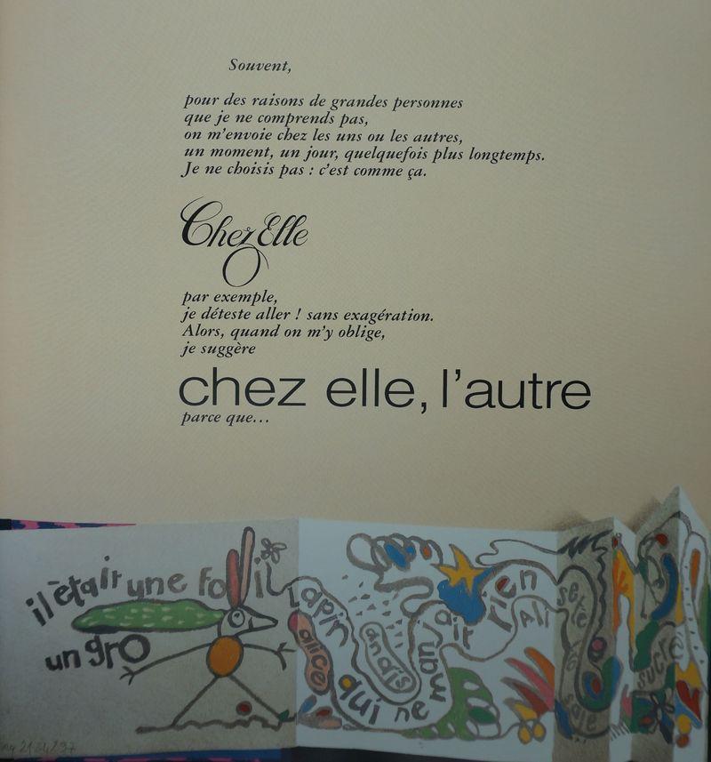 Béatrice PONCELET. Chez elle ou chez elle. Seuil jeunesse, 1997