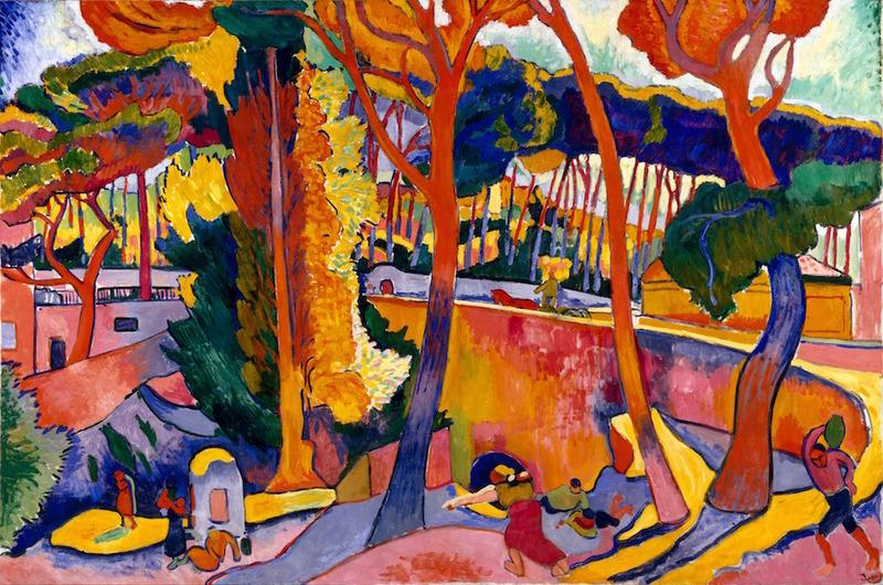 André Derain, L'Estaque, route tournante, 1906, huile sur toile, 129,5 x 194,9 cm, Museum of Fine Arts, Houston, Museum purchase funded by Audrey Jones Beck