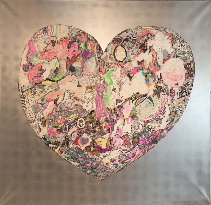 Niki de Saint Phalle   My heart, 1965, peinture collage sur bois   Collection privée,  Courtesy Niki Charitable Art Foundation and Galerie GP & N.Vallois, Paris