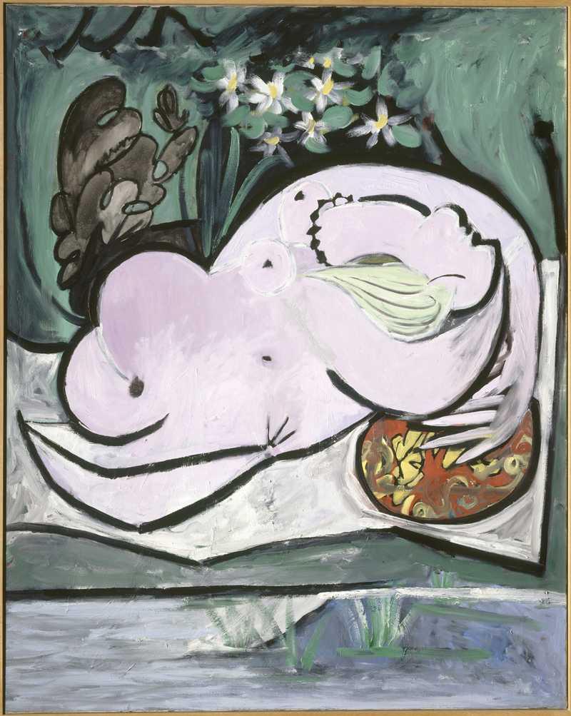 Pablo Picasso Femme nue dans un jardin