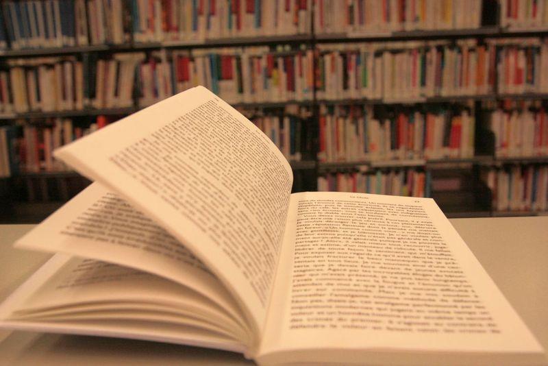 Livre ouvert dans la Bpi