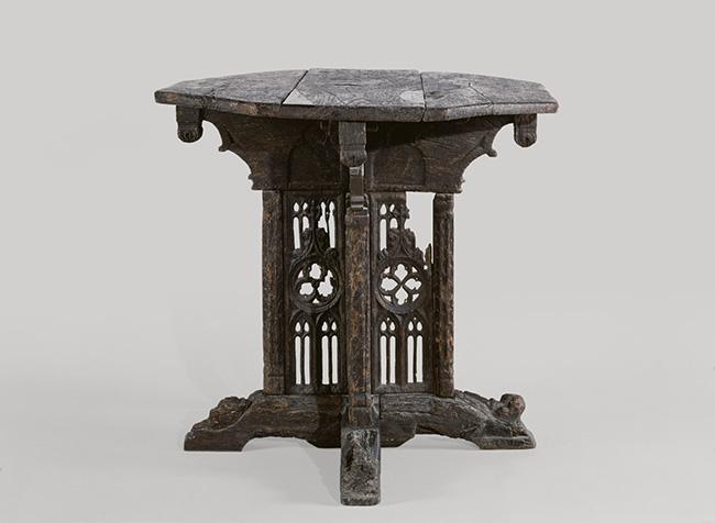 Table à plateau octogonal France Fin du 15e siècle Chêne Musée de Cluny, Cl. 22795