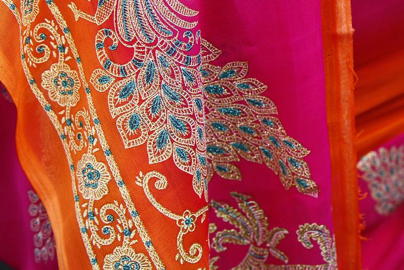 Sari indien, tissu