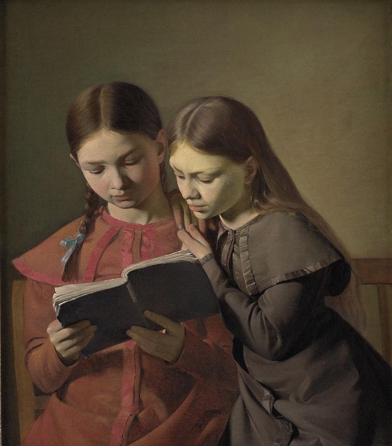 Constantin Hansen, Signe et Henriette Hansen, sœurs de l'artiste, 1826 Huile sur toile, 65,5  56 cm, Copenhague, Statens Museum for Kunst