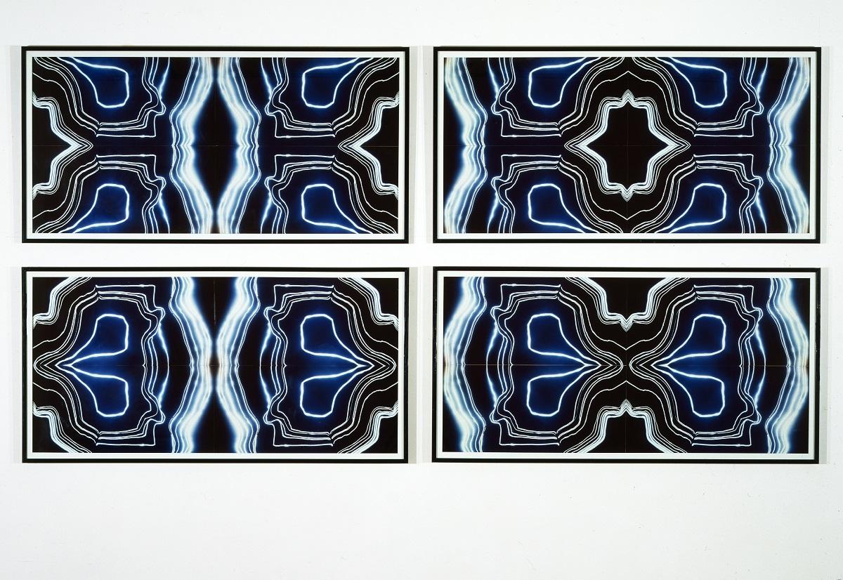 Hubert Duprat, Les Agates, 1986-1989 Ensemble de quatre cibachromes, chaque élément 76 x 160 cm Collection Frac Bretagne