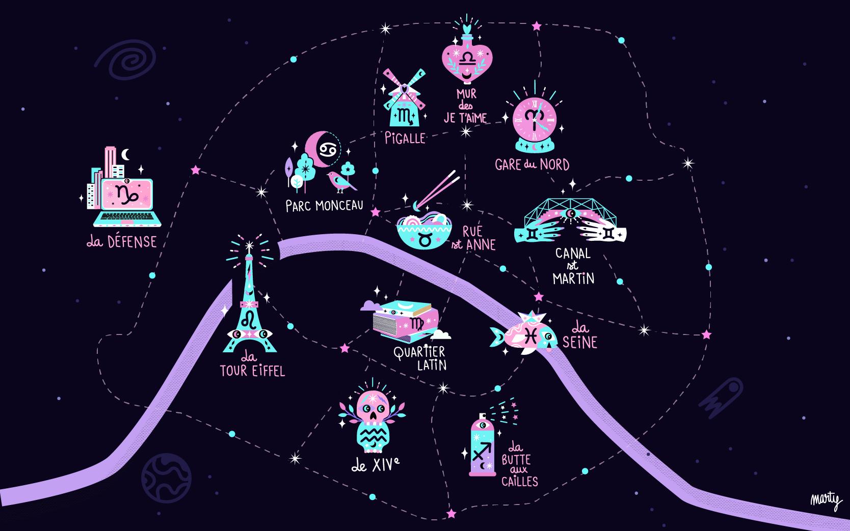 #AstroPaname, la cartographie