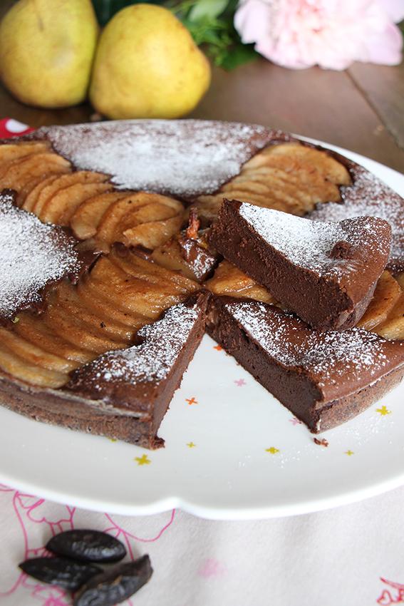 Le fondant au chocolat et aux poires de Sandrine et Muriel de Dévorez-moi