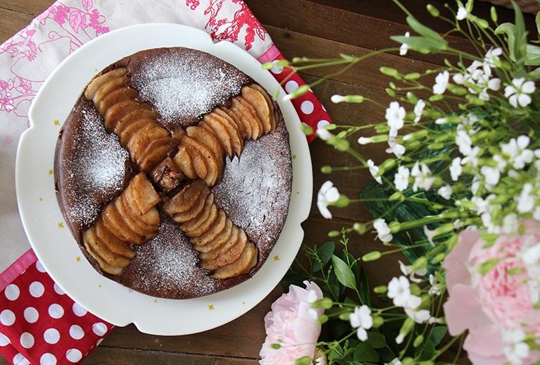 Fondant au chocolat aux poires de Muriel et Sandrine Zarki de Dévorez-moi