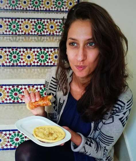 Myriam et sa fameuse crêpe maricaine
