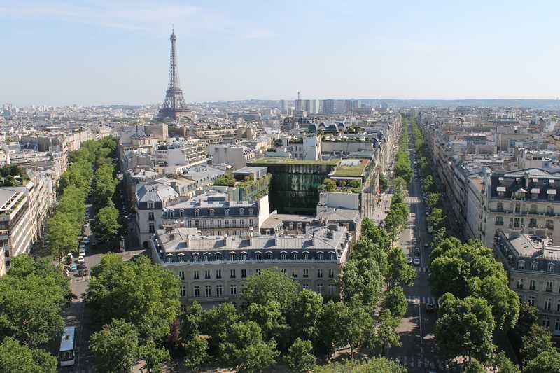 Eiffel Tower from Arc de Triomphe de l'Étoile
