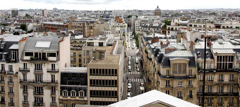 La rue d'Ulm vue des toits du Panthéon