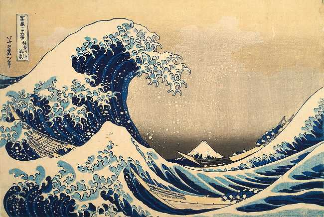 Trente-six vues du Mont Fuji, Sous la vague au large de Kanagawa