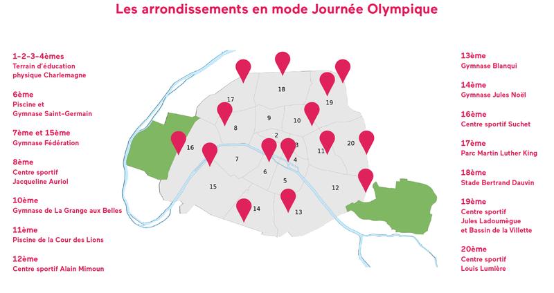 Arrondissements pour la journée du 23 juin 2018