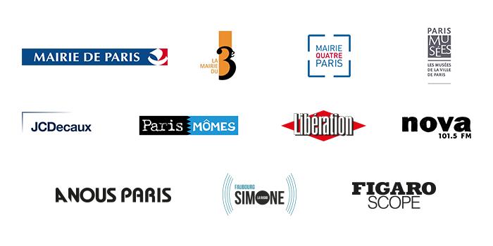 Logos des partenaires des Traversées du Marais 2018
