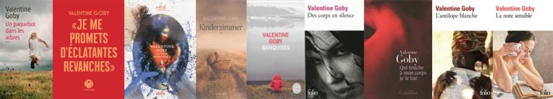 couvertures des romans de valentine goby