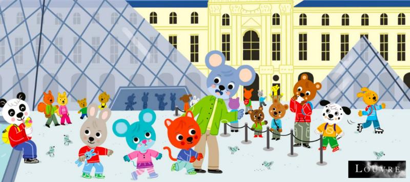 Timoté viste le Louvre