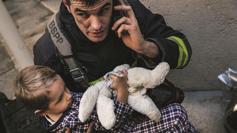 Sapeur-Pompier de Paris en intervention